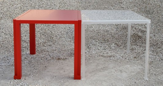 red and white versatile dining table