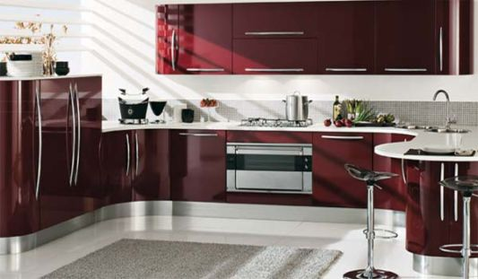 modern curved kitchen island. Red Curved Kitchen Modern By Record Cucine Island D
