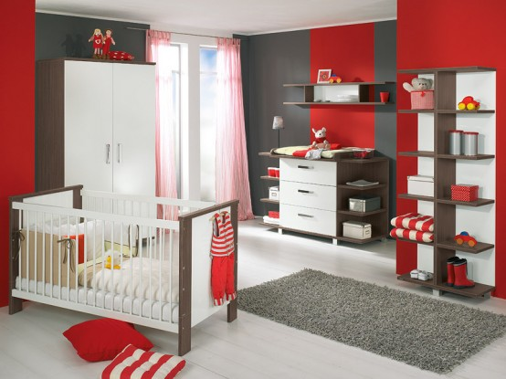red glory baby nursery furniture sets