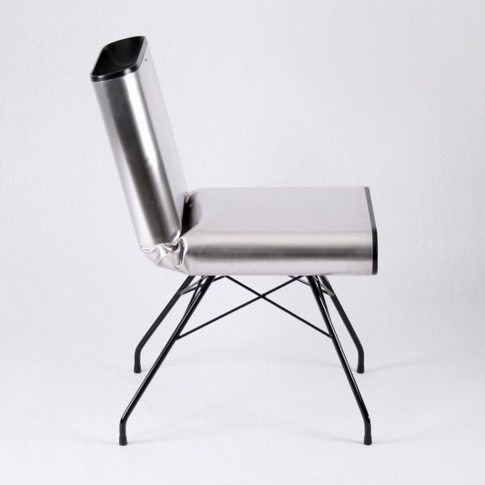 regular silver chair in modern and stylish design