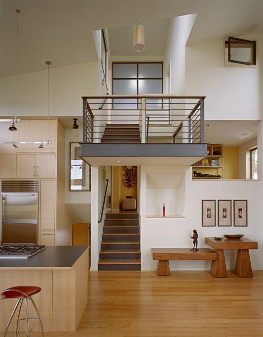 renovating former war house inside staircase