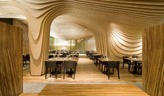 Banq Restaurant Interior – Unique Design Ceiling Restaurant by ...