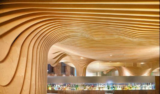restaurant ceiling design corrugated