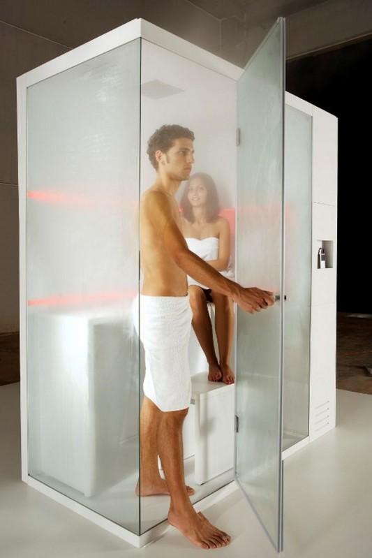 revolution shower box for steam bath function