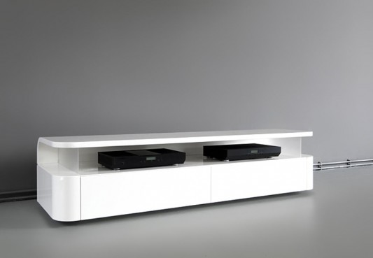 RKNL audio minimalist design LCD-TV stand with audio cabinet