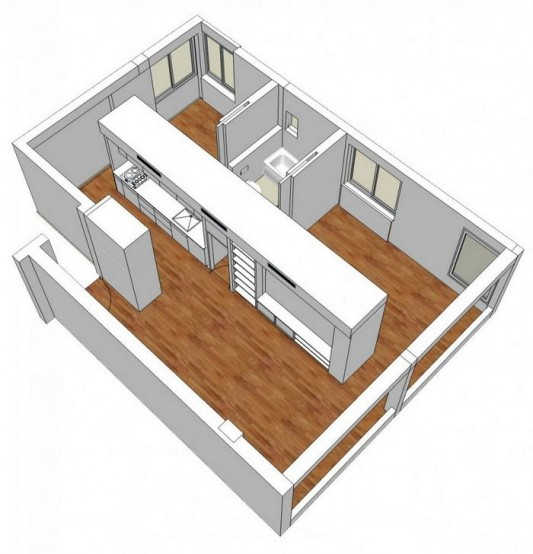 room cirulation drawing plan