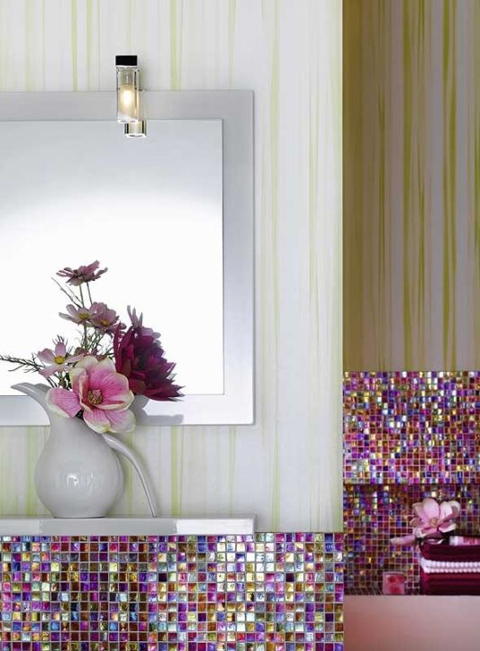 sexy and blink blink medina bathroom wall design with miroor