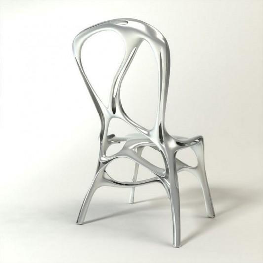 shelly aluminum chair unique design