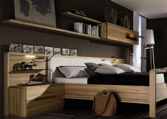 Simple Solid Wood Bedroom Furniture Set By Huelsta