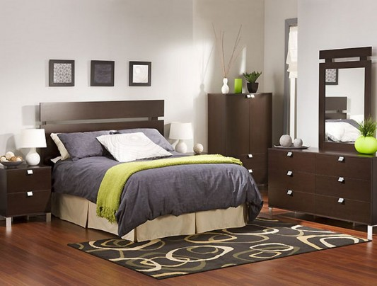 Contemporary Bedroom Furniture Set with Simplicity Design ...