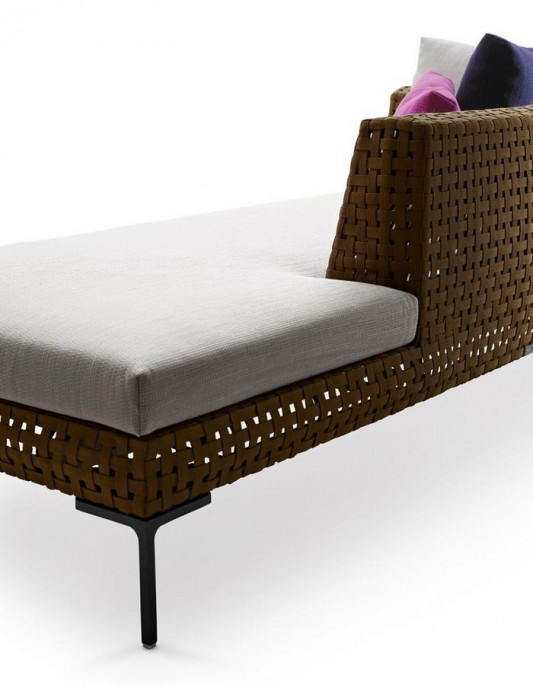 slim and stylish outdoor sofa detailed