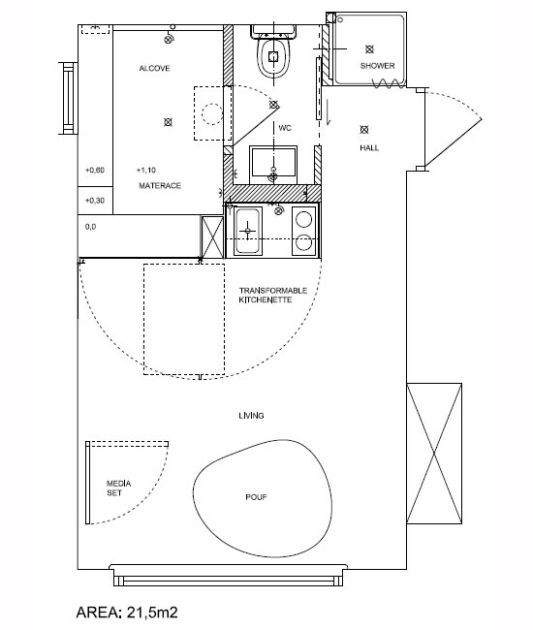 small and minimalist apartment plans