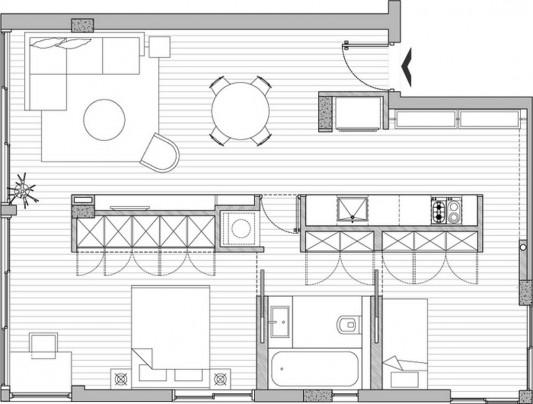 small apartment renovation plans