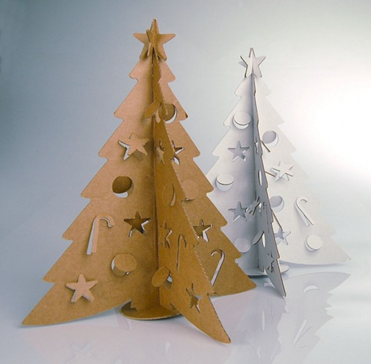 small cardboard Christmas tree design ideas