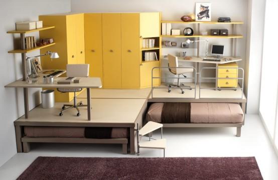 smooth brown and big yellow teenage loft