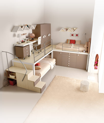 soft brown for loft teenage rooms