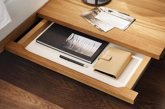 solid walnut bed drawer design detailed