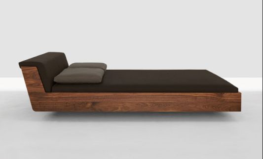 solid wooden bed ergonomic design, fusionzeitraum moebel