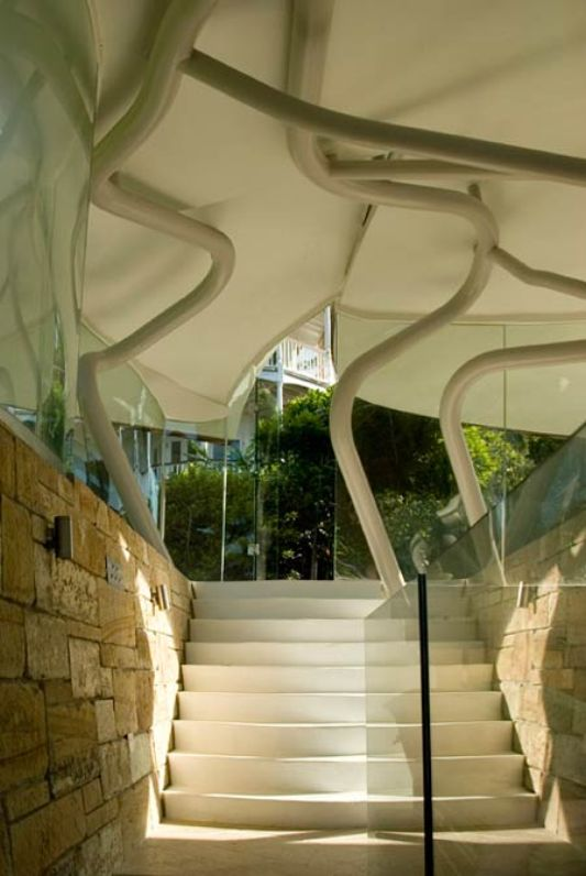 staircase design Leaf House by Undercurrent Architects