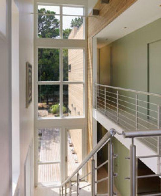 stairs design modern beach house on fire island