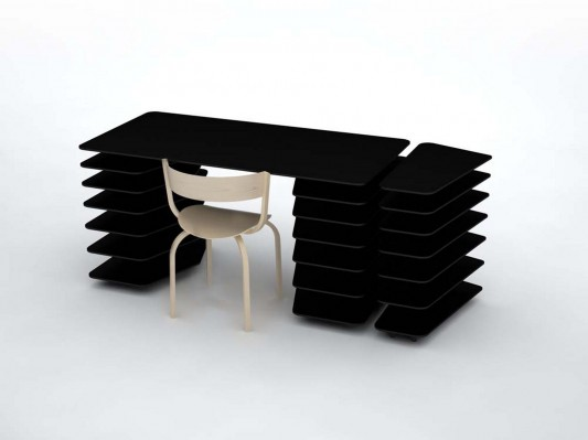 strates system versatile and minimalist office desk by mathieu lehanneur