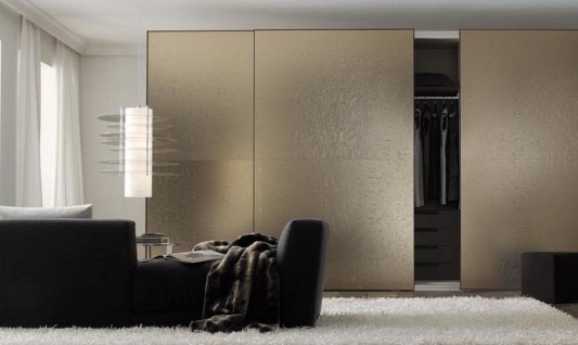 stylish and minimalist Italian walk-in wardrobes furniture design