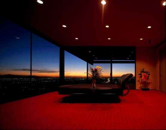 sunset on family room