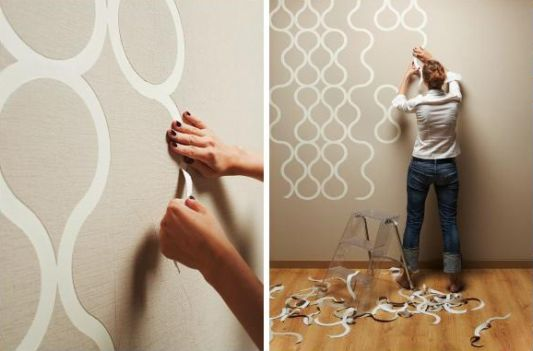 Home Design Wallpaper wallpaper house design Tears Off Interactive Wallpaper Design