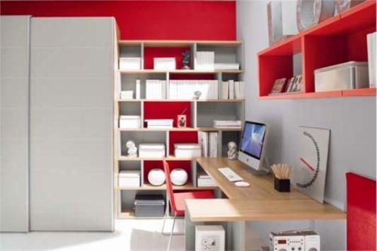 teen bedroom decor attractive red color ideas
