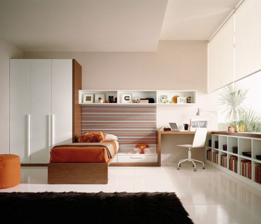 teen bedroom decorating with contemporary furniture design