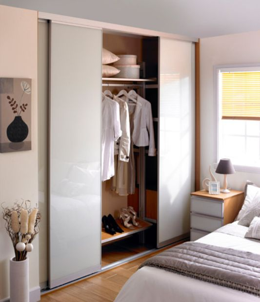 thin wardrobe for unique home interior