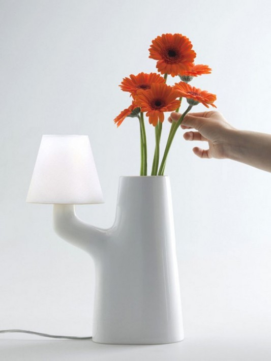 touch table lamps with sensitive flower as switch lamps