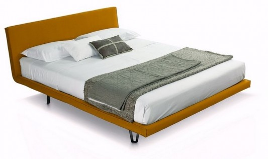 traditional minimalist double bed
