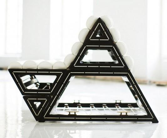 triangle modern modular lounge chair unique design