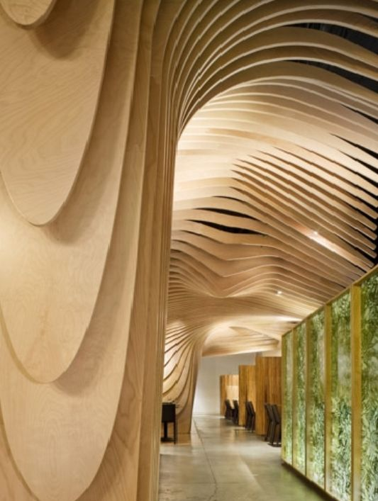 undulating ceiling detail