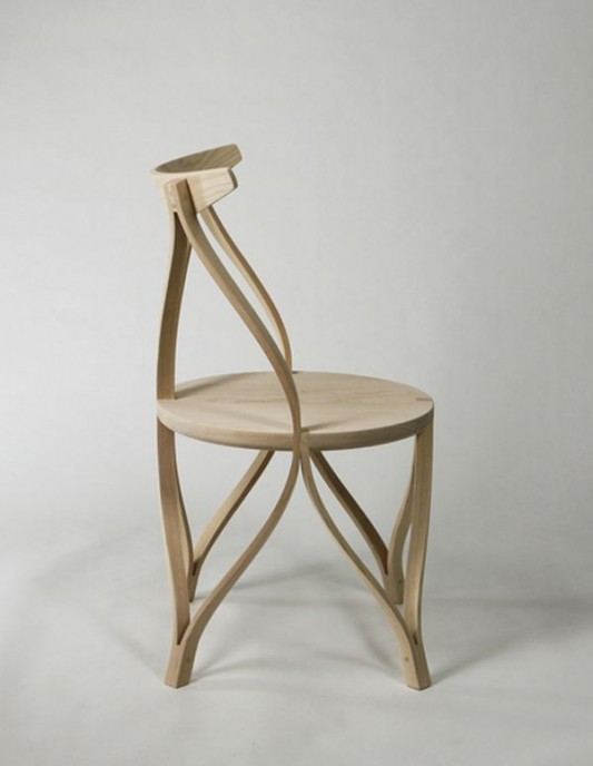 unique and artistic wooden chair design