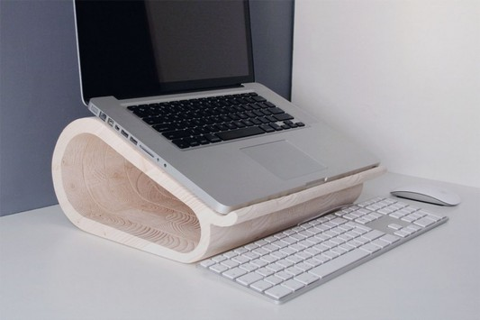 unique and creative wooden laptop stand