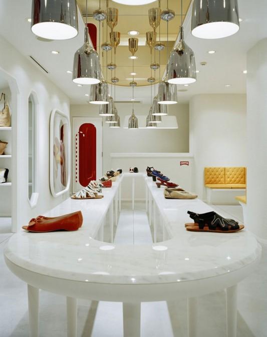 unique long table for contemporary shop interior design