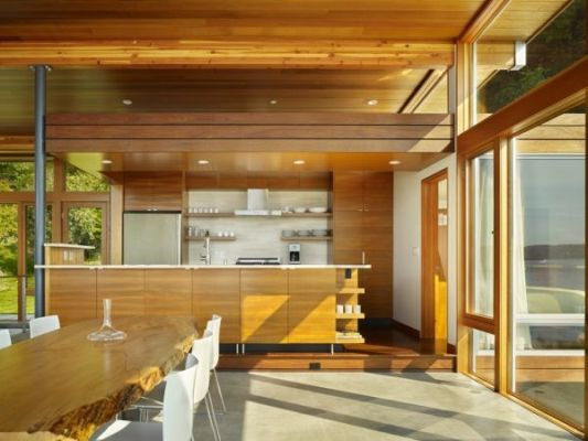 vashon cabin contemporary dining room ideas