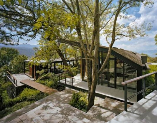 villa designs blend with nature