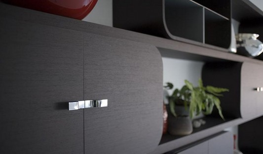wall mounted storage system door detailed