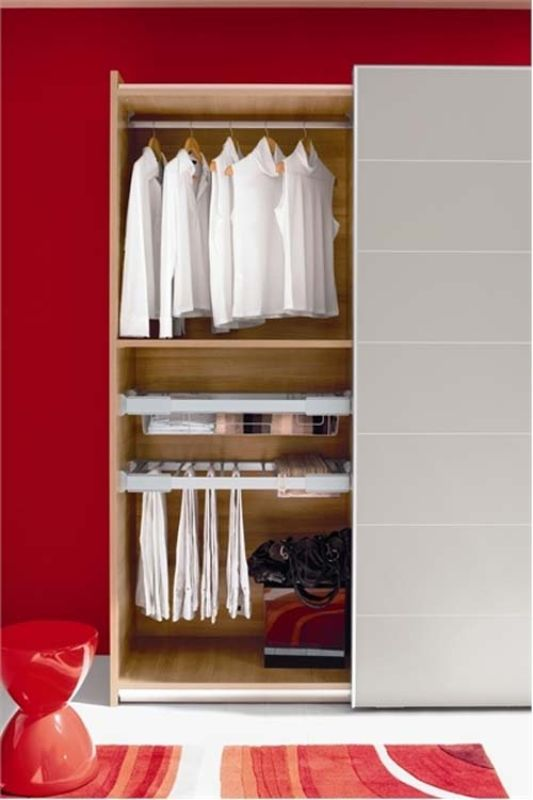 wardrobes with red background