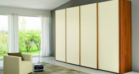 warm combination sliding door wardrobes ideas