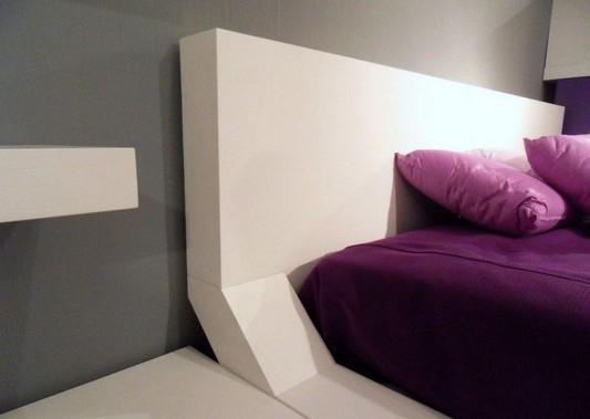 white and violet bedroom furniture headrest design