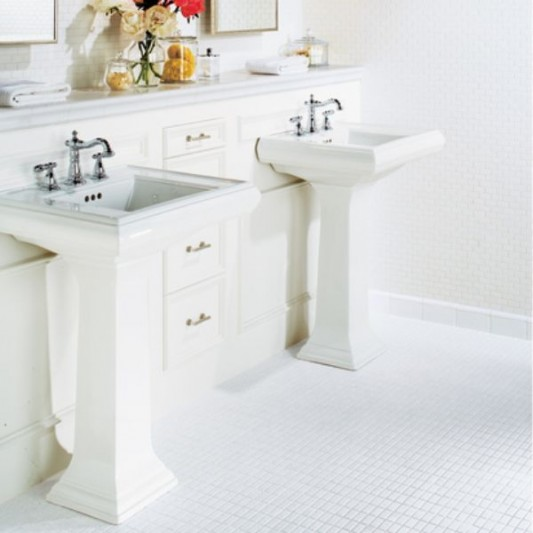 White Bathroom Tiles Design Ideas