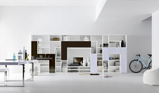various options furniture living room with modern design, modulo ... - Mobili Living Design