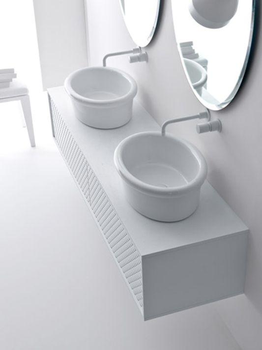 white coco washbasin with storage