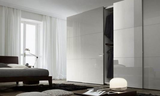 white gloss Italian walk-in wardrobes stylish and fashionable design