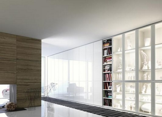 white gloss high matt contemporary wardrobes multifunction design