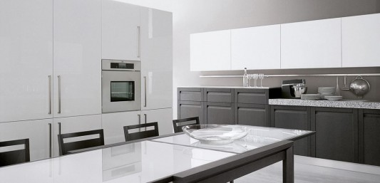 white lacquer classical modern kitchen design